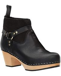Swedish Hasbeens - Rivet Boot Women's Low Ankle Boots In Black - Lyst