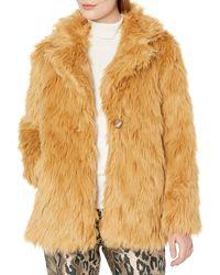 Vince Camuto Shaggy Fur Coat - Multicolor