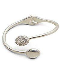Kenneth Cole - Silver-tone Open Cuff Jeweled Bracelet - - Lyst