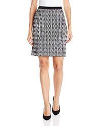 Rafaella - Misses Geometric Jacquard Skirt - Lyst