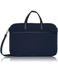 Vera Bradley Microfiber Slim Laptop Case - Blue