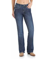 Wrangler Aura Instantly Slimming Mid Rise Boot Cut Jean - Blue