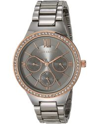 Vince Camuto Crystal Accented Multi-function Bracelet Watch - Metallic