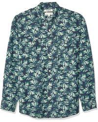 Goodthreads Camisa de algodón de lino de manga larga y corte estándar para hombre - Verde