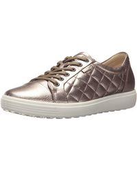 Ecco Damen Soft 7 Ladies Sneaker, schwarz - Mehrfarbig