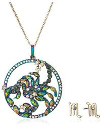 Betsey Johnson - Scorpio Zodiac Necklace And Earrings Set, Multi, One Size - Lyst