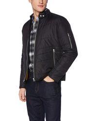 William Rast Oz Moto Puffer Jacket - Black
