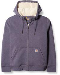 Carhartt Clarksburg Sherpa Lined Hoodie - Purple