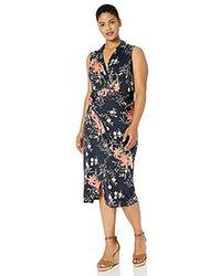 RACHEL Rachel Roy - Plus Size Sleeveless Printed Bret Dress - Lyst