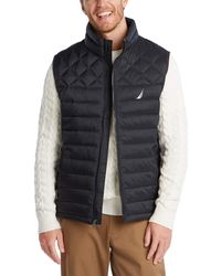 Nautica Light Weight Quilted Vest - Black