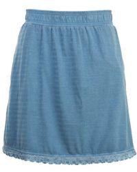 Woolrich Meadow Forks Skirt - Blue