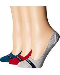 Sperry Top-Sider 3 Pack Signature Invisible No Show Liner Socks - Multicolor