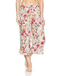 Kensie - Ruffle Crop Pajama Pant - Lyst