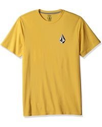 Volcom Deadly Stone Modern Fit Short Sleeve Tee - Yellow