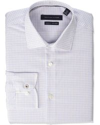 Tommy Hilfiger Dress Shirt Slim Fit Non Iron Check - Blue