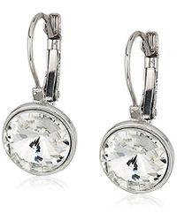 T Tahari - S Essentials Bezel Set Stone Drop Earrings, Silver, One Size - Lyst