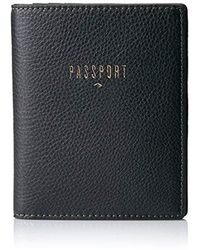 Fossil Rfid Passport Case Wallet - Black