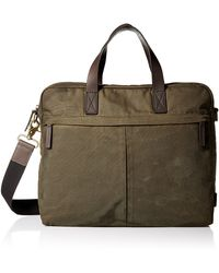 Fossil Buckner Leather Brief Workbag - Green