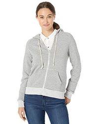 Alternative Apparel - Adrian Striped Eco-fleece Zip Hoodie - Lyst