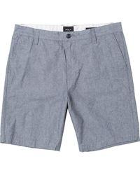 RVCA Mens Thatll Walk Oxford Casual Shorts - Blue