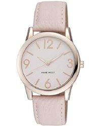 Nine West Rose Goldtone And Blush Pink Strap Watch