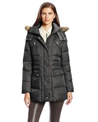 Kenneth Cole - New York Matte-satin Down Coat - Lyst