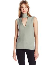 Tracy Reese - Sleeveless Turtle Sweater - Lyst