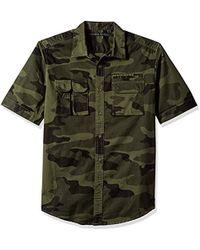 Sean John Short Sleeve Flight Shirt - Green