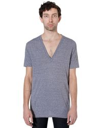 American Apparel Tri-blend Deep V-neck Short Sleeve T-shirt - Multicolor