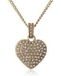"Judith Jack ""golden Class Sterling Silver And Gold-tone Crystal Marcasite Heart Pendant Necklace - Metallic"