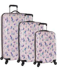 Nine West 3 Piece Hardside Spinner Luggage Suitcase Set - Multicolor