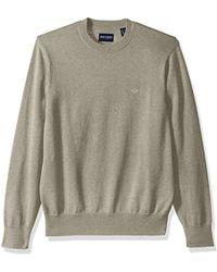 Dockers Cotton Crewneck Long Sleeve Sweater - Natural