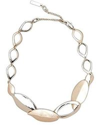 """Kenneth Cole - Textured Metals Gold Leaf Collar Necklace, 13"""" + 3"""" Extender - Lyst"""