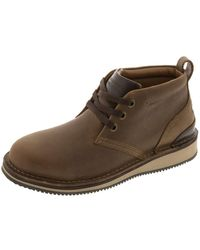 Rockport - S Beeswax Brown Leather Work Boots St Lace-up Chukka 12 W - Lyst