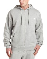 Champion Super Hood Full Zip ,oxford - Gray