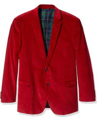 U.S. POLO ASSN. Big And Tall Corduroy Sport Coat - Red