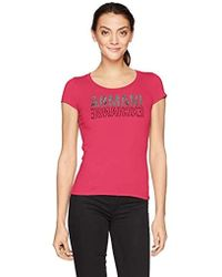 Armani Exchange | Bckwrds Logo Scoop Neck Tee - Pink