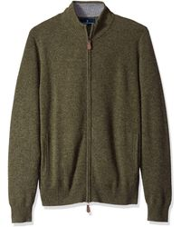 Buttoned Down Cashmere Full-zip - Green