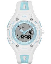 Skechers Quartz Watch With Polyurethane Strap - Blue