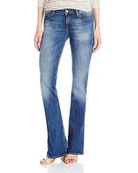 Mavi Jeans Ashley Petite Mid Rise Bootcut - Blue