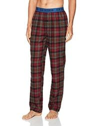 Ben Sherman Flannel Logo Pant - Red