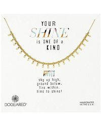 "Dogeared - Your Shine Is One Of A Kind Petal Chain Necklace, 18"" - Lyst"