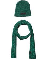 Calvin Klein Beanie And Scarf Winter Accessory Set - Black