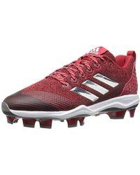 premium selection ff087 df425 adidas - Freak X Carbon Mid Baseball Shoe, Power Red, Silver Met, Ftwr