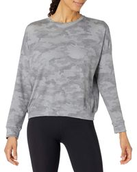 Core 10 Soft Cotton French Terry Crew-neck Long-sleeve - Gray