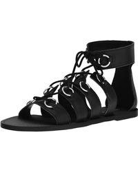 Nine West Tayah Leather Gladiator Sandal - Black