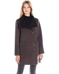 71229dc5ae12 Elie Tahari - Laura Oversized Wool Zip Coat - Lyst