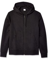 Amazon Essentials Water-Repellent Thermal-Lined Full-Zip Fleece Hoodie Fashion-Hoodies - Nero