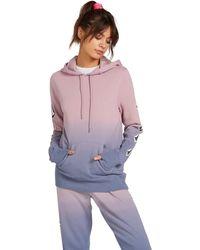 Volcom Vol Stone Hooded Fleece Sweatshirt - Purple