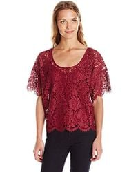 Plenty by Tracy Reese - Lace Tee Xs-l, - Lyst